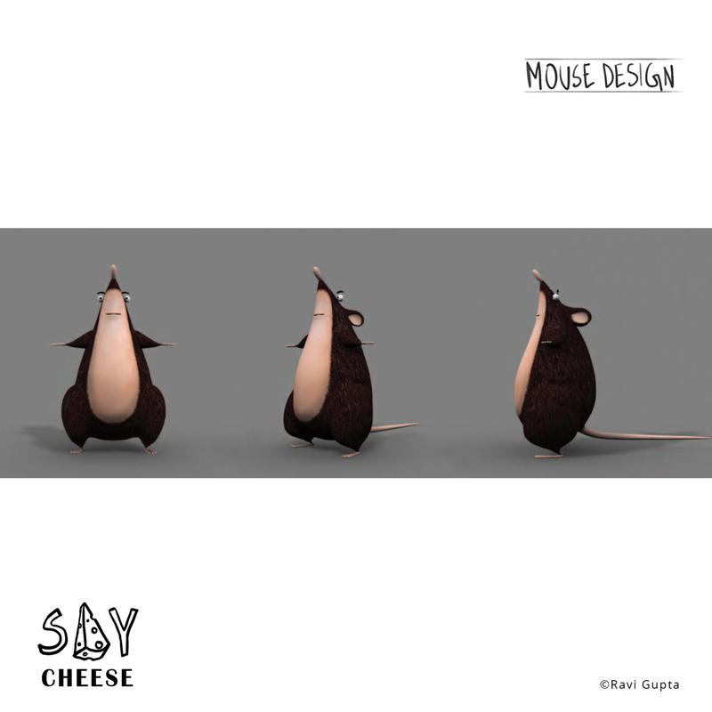 3D turnaround for the mouse design, Say cheese.